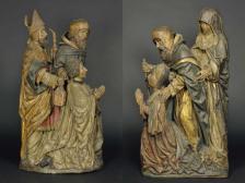 Stifterpaar mit ihren heiligen Patronen