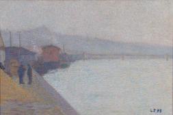 Les bords de la Saône dans la brume (Die Ufer der Saône im Nebel)