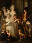 Porträt Willoughby Bertie, 4th Count of Abingdon (1740 - 1799), mit seiner Familie