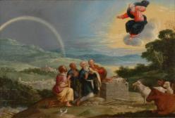 Das Opfer des Noah nach der Sintflut