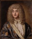 Bildnis des französischen Schauspielers Michel Baron (1653 - 1729) aus der Molière-Truppe