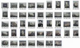 Meisterwerke der Galerie Nostitz in Prag. Mappe mit 43 Kunstdrucken nach Gemälden Alter Meister