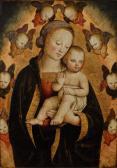 Madonna mit Kind und Seraphim
