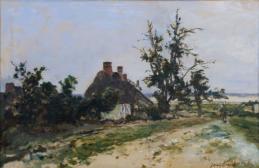 Chaumière dans un paysage (Bauernhaus in einer Landschaft)