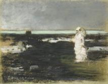 Spaziergängerin am Strand (Sarah Bernhard?)