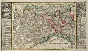 """Landkarte """"Das Mittelländisch Meer"""""""