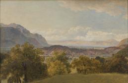 Das Rhonetal bei Bex mit Blick auf den Genfer See