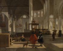 Das Innere der Oude Kerk in Amsterdam