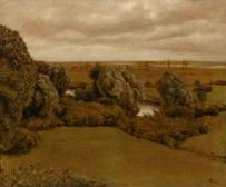 Landschaft an der Nidda bei Frankfurt am Main