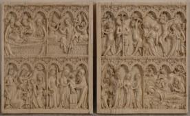 Diptychon mit Szenen aus dem Leben und der Passion Christi