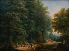 Landschaft mit Jägern