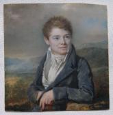 Porträt Hyppolite Périn (+ 1827), der Sohn des Künstlers (Miniatur)