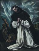 Der heilige Dominikus im Gebet